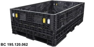 Large folding pallet containers 143x120, 160x120, 175x120, 195x120, 225x120